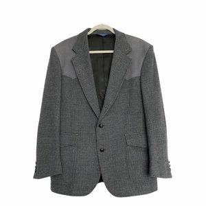 Pendleton Wool + Suede Western Black + Gray Blazer